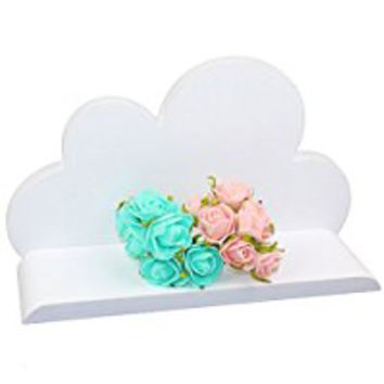 Lemo handmade -white Wooden cloud shelf decorative HD14