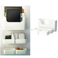 Ikea 502.347.04 Pluggis 7-piece container set with rail, white