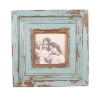 Wilco Imports Distressed Wood Frame Blue