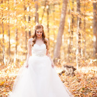 Tulle Wedding Dress with Lace Bodice