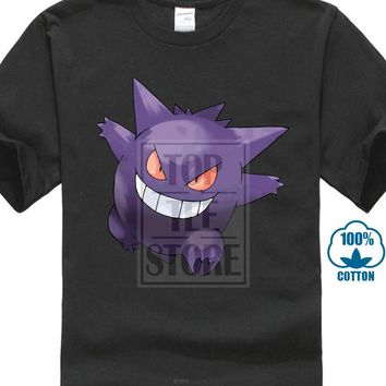 Men Adult T Shirt Short Sleeve Cotton New  Gengar Anime Men'S T ShirtKawaii Pokemon go  AT_89_9