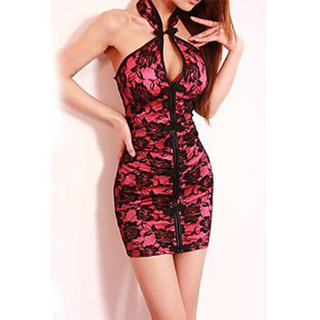 Women's Halter Sexy Mini Dress