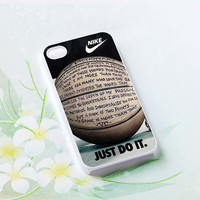 nike basketball just do it and passion Hard plastic case iphone 4,4s,5,samsung s3 i9300,samsung s4 i9500