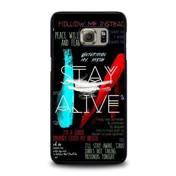twenty one pilots stay alive samsung galaxy s6 edge plus case cover  number 1