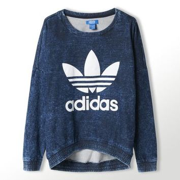 adidas French Terry Acid-Wash Crewneck Sweatshirt | adidas Australia