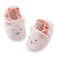 Carter's Kitty Baby Slippers