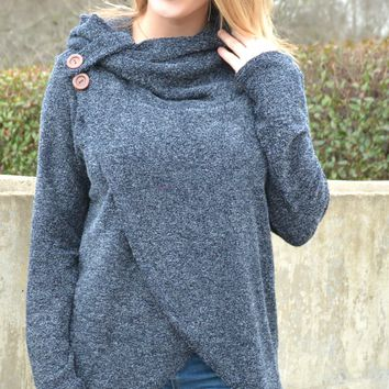 Around The Fireside Sweater - Navy