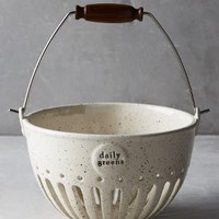 Dairy Pail Colander by Anthropologie in Ivory Size: One Size Kitchen