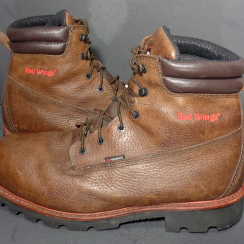 Red Wing Classic 1261 6-inch Waterproof Work Brown Leather Boots Men's Size 13