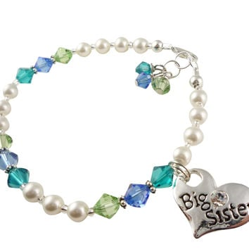 Turquoise and Green Big Sister Bracelet