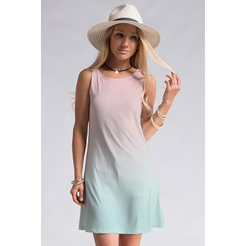 Shades of Sherbert Dress - Pink and Mint