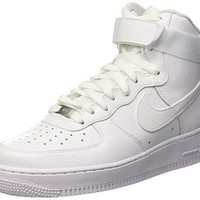 Nike Mens Air Force 1 High 07 Basketball Shoes White/White