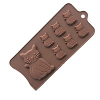 Small Cat Shape Silicone Gel Chocolate Baking Cake Decoration Tool DIY Kitchen Hand Soap Mold