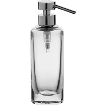 Addition Clear Glass Table Pump Liquid Soap Lotion Dispenser for Bath, Kitchen