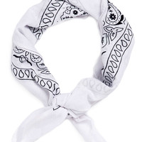 WHITE PASILEY BANDANA NECKER - New This Week - New In - TOPMAN USA