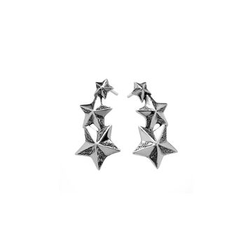 Rock Star Sterling Silver Drop Earring