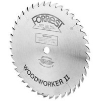 Forrest WW10407125 Woodworker II 10-Inch 40 Tooth ATB .125 Kerf Saw Blade with 5/8-Inch Arbor