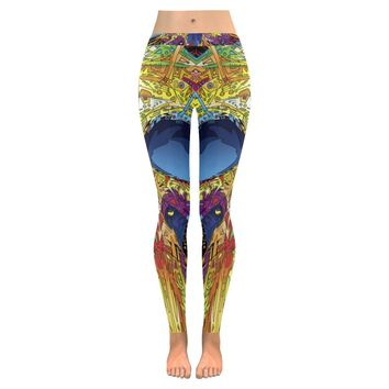 Sugar Skull All-Over Low Rise Leggings