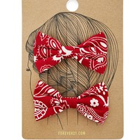 Bandana Bow Hair Clips
