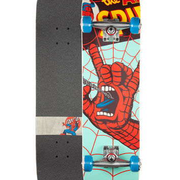 Santa Cruz X Marvel Spiderman Hand Full Complete Skateboard Multi One Size For Men 26050995701