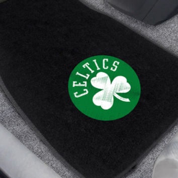 Boston Celtics 2-pc Embroidered Car Mat Set