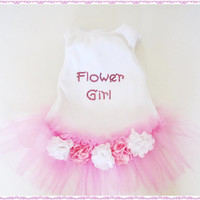 Wedding Dog TuTu Flower Girl puppyinthewedding Pink dog tutu