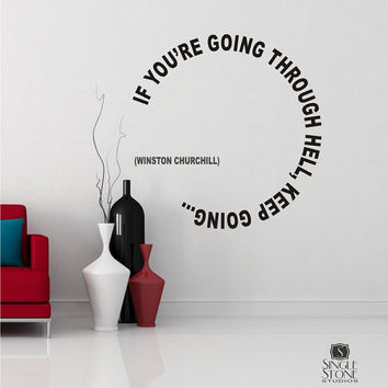 Wall Decal Quote Keep Going Winston by singlestonestudios on Etsy