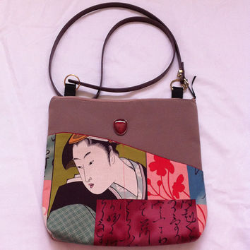 Oriental Soft Geisha's Handmade Pocket Shoulder Bag