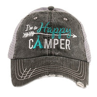 I'm A Happy Camper Women's Mesh Trucker Hat Cap by Katydid