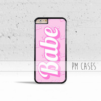 Pink Babe Case Cover for Apple iPhone 4 4s 5 5s 5c 6 6s SE Plus & iPod Touch