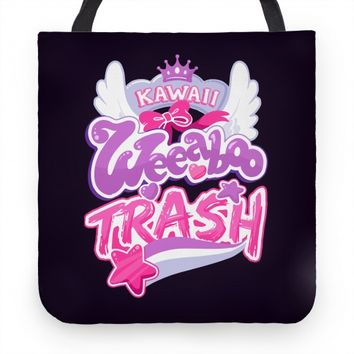Kawaii Weeaboo Trash Anime Logo | Tote Bags, Grocery Bags and Canvas Bags | Human