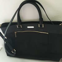 MK black women work computer shoulder handbag bag