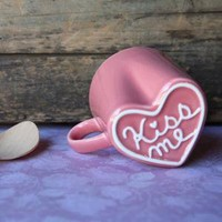 mug love in strawberry pink - $16.99 : ShopRuche.com, Vintage Inspired Clothing, Affordable Clothes, Eco friendly Fashion