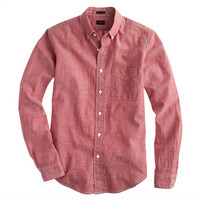 J.Crew Mens Slim Japanese Chambray Shirt In Sunwashed Red