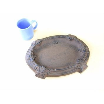 Giant Cast Iron Ashtray for Cigar Smokers Table Model