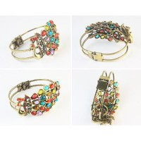 Amazon.com: Classic vintage Bohimian style colorful peacock bracelet: Home & Kitchen