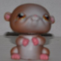 Hamster #36 (brown/White, brown eyes) - Littlest Pet Shop (Retired) Collector Toy - LPS Collectible Replacement Figure - Loose (OOP Out of Package & Print