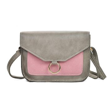 'BLAIR' Color Pop Leather Shoulder Bag