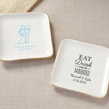 Personalized Trinket Dish - Wedding
