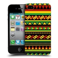 Head Case Designs Aztec Rasta Colour Patterns Protective Snap-on Hard Back Case Cover for Apple iPhone 4 4S