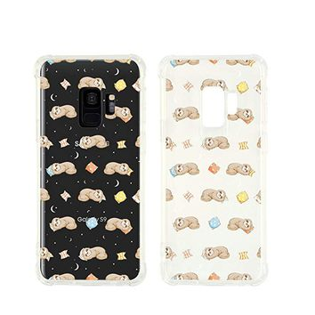 Cute Animals Folivora Sloth Pattern Pattern Transparent Silicone Plastic Phone Case for Samsung Galaxy S9 PLUS Phone_ SUPERTRAMPshop (Samsung S9 PLUS)