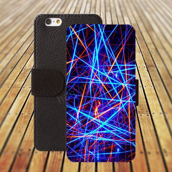 colorful light iphone 5/ 5s iphone 4/ 4s iPhone 6 6 Plus iphone 5C Wallet Case , iPhone 5 Case, Cover, Cases colorful pattern L021