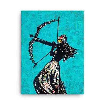 The Archer Collage Canvas Wall Art 18x24