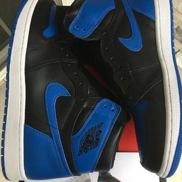 DCCKV2S Air Jordan 1 Retro 1 High OG Royal Shoes Size 10.5 555088-007 Deadstock