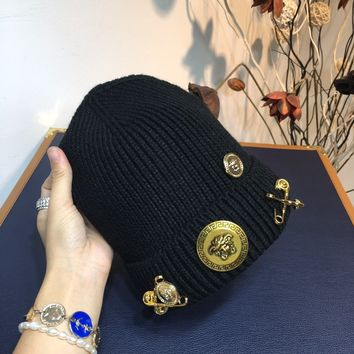Versace Knitted wool cap Women's Fashion Casual hat