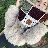 Retro Crochet Scarf