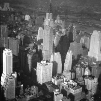 New York State of Mind Early 1900s New York City Aerial View Manhattan Skyscrapers Skyline 13x19 Black and White Print
