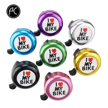 PCycling I Love My Bike Bicycle Bell Aluminum Alloy Printed Clear Sound MTB Road Bike Alarm Warning Mini Ring Bell for Children