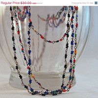 Set of Three Glass Seed Bead Vintage Necklaces