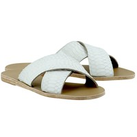 Thais Cross Strap Sandals / Watersnake